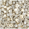Square Beads 3.4x3.4mm Metalic Silver Terra Color